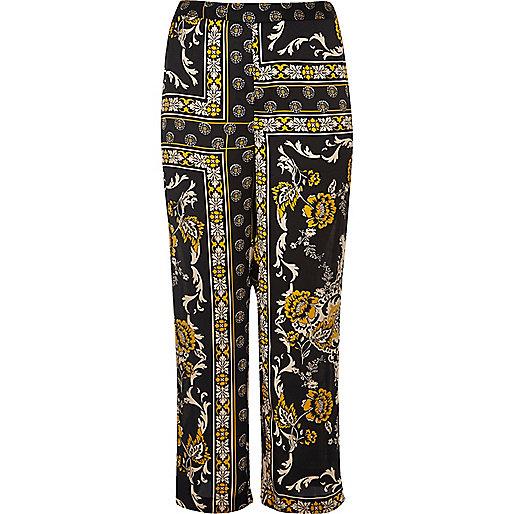 RI Plus black print soft woven pants