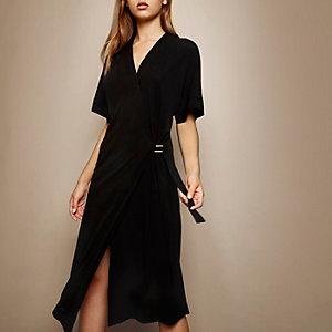RI Studio black wrap dress