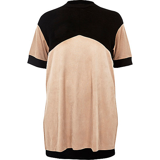 RI Plus blush pink colour block tunic