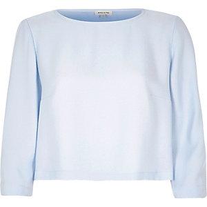Light blue crepe top