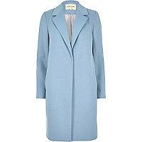 Light blue tailored overcoat