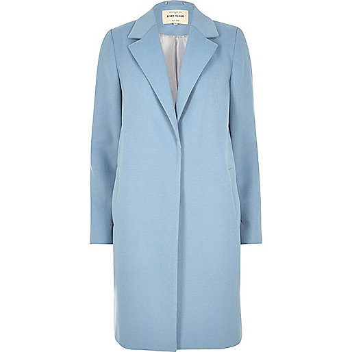 Light blue tailored overcoat