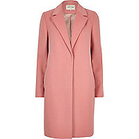 Pink tailored overcoat