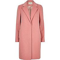 Manteau rose cintré