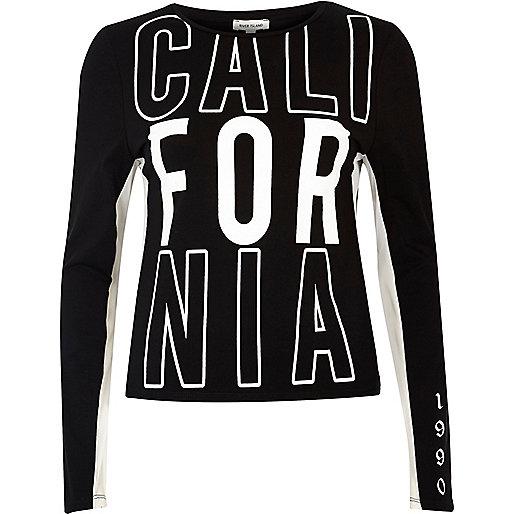 Black 'California' mesh top