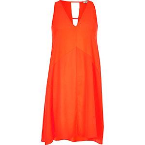 Oranges strappy swing dress