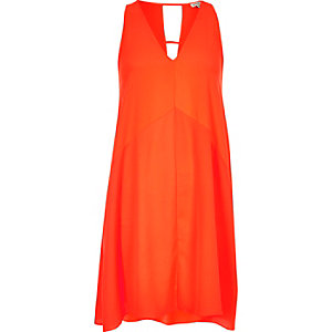 Oranges strappy swing dress