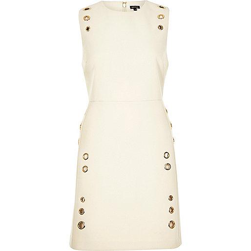 A-Linien-Kleid in Creme