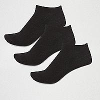 Lot de chaussettes de sport en coton noir