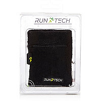 Black Run Tech knit sports sweatband