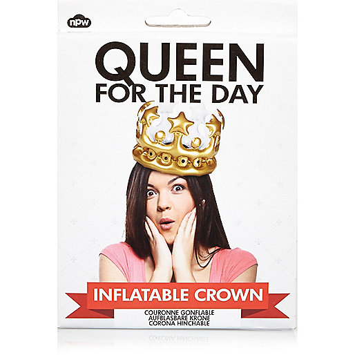 Courronne gonflable «Queen for the day» NPW