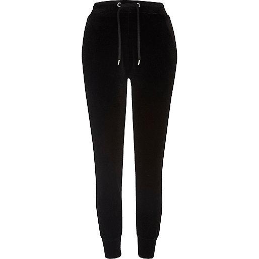 Pantalon de jogging en jersey de velours noir