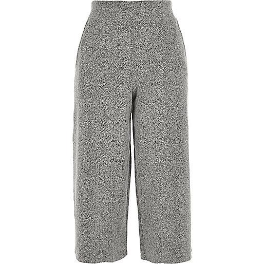 Grey knit culottes