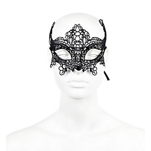 Schwarze Spitzen-Augenmaske
