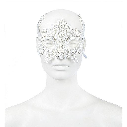 Weiße Augenmaske aus Spitze
