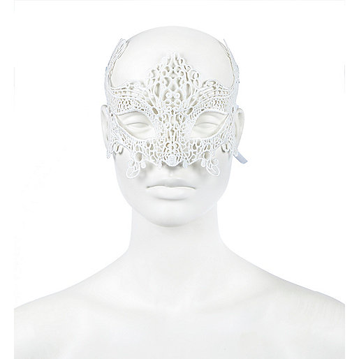 Masque pour les yeux en dentelle blanc