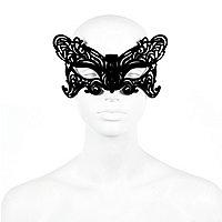 Black velvet butterfly eye mask