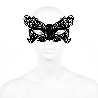 Black velvet butterfly eye mask
