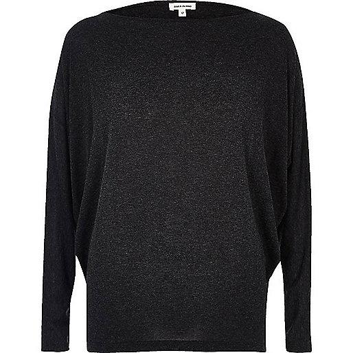 Dark grey batwing top