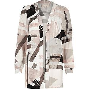 White print jacket