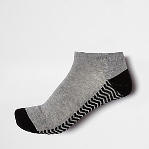 Black stripe block trainer socks