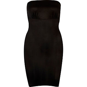 Schwarzes Bandeau-Kleid mit Smooothees-Kontrolle
