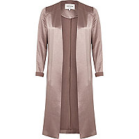 Pink satin duster jacket