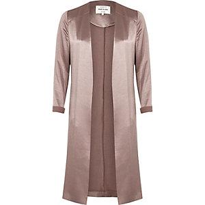 Pink satin duster jacket