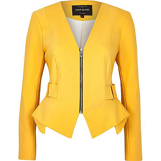 Yellow peplum jacket