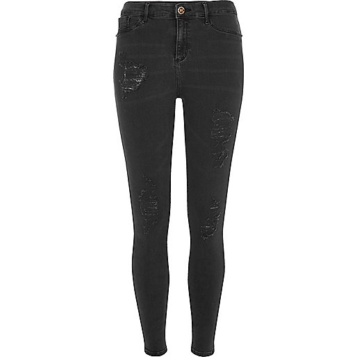 Black distressed Molly jeggings