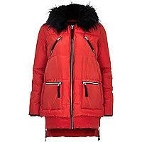 Red long sleeve padded jacket
