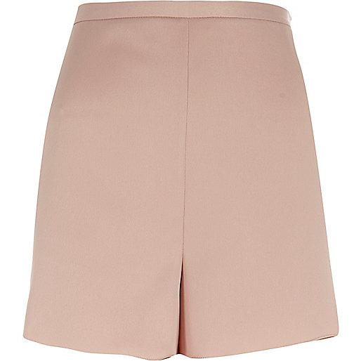 Pink smart high rise shorts