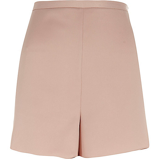 Pink smart high rise shorts