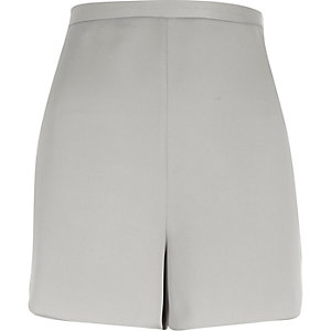 Grey smart high rise shorts