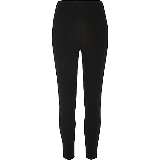 Black ponti piping detail leggings