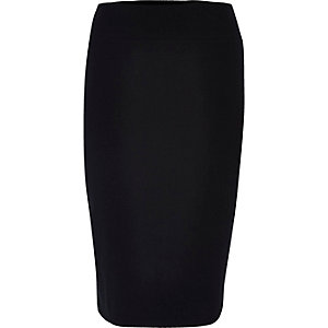 RI Plus black jersey pencil skirt