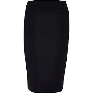 Jupe crayon RI Plus en jersey noir