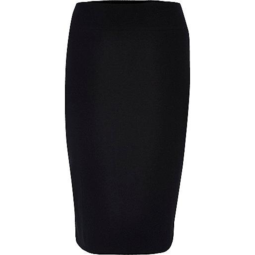 RI Plus black jersey pencil skirt