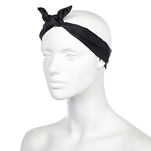 Black satin bandana