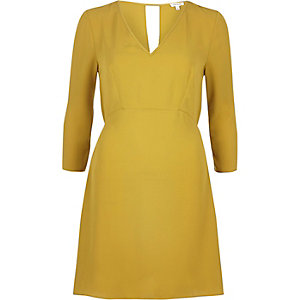 Dark yellow swing dress