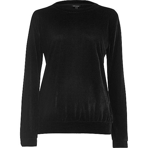 Black velour sweatshirt