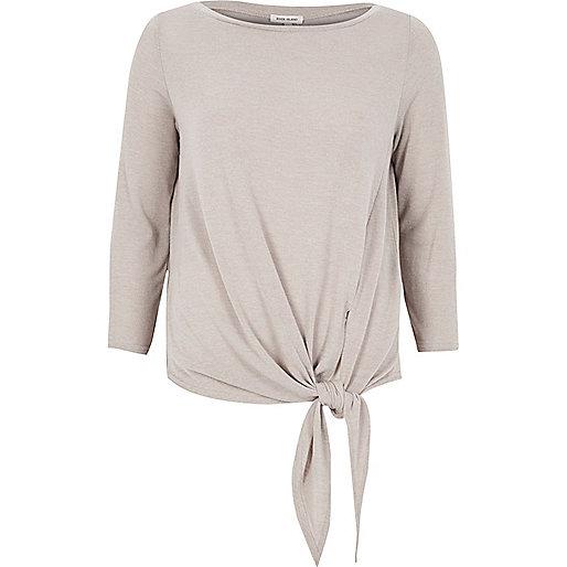 Grey tied top