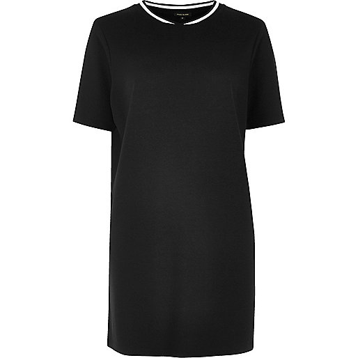 Black sporty longline T-shirt
