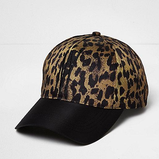 Casquette imprimé léopard NY