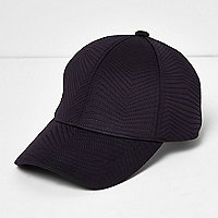 Navy quilted sporty cap