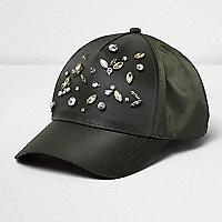 Verzierte Cap in Khaki