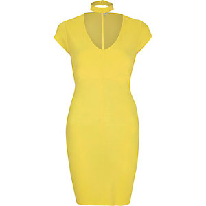 Yellow T-bar dress
