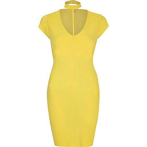 Yellow T-bar dress
