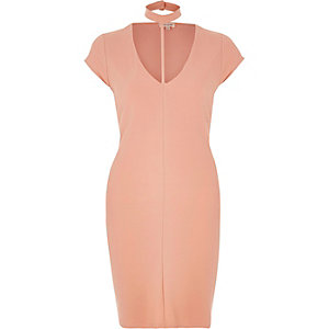 Light pink T-bar dress