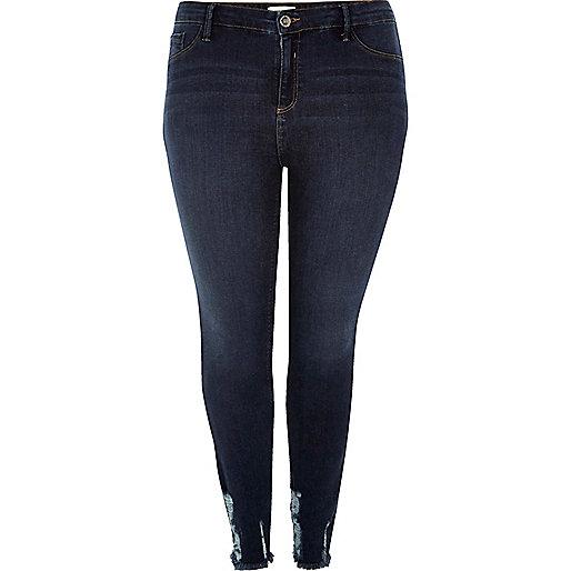 RI Plus dark wash Amelie super skinny jeans